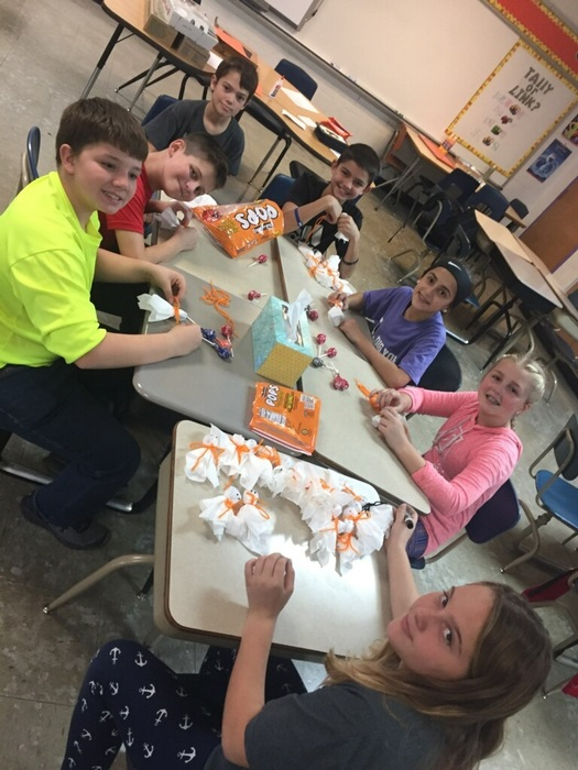 "Student Council working on ""Ghostly-Grams"""