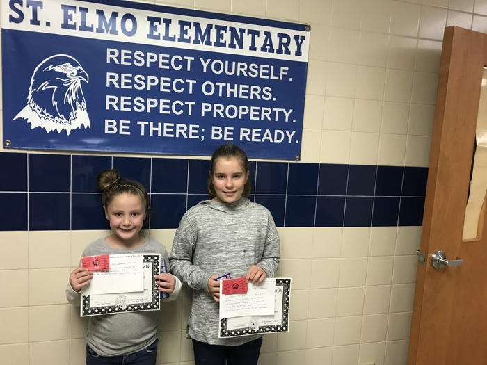 Student Council Students of the Month for November