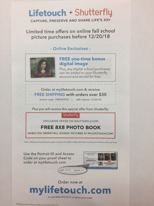 LIfetouch + Shutterfly Flyer