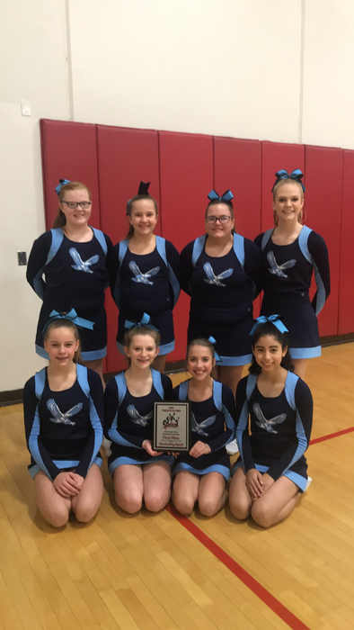 1st Place at VJHS cheerleading competition