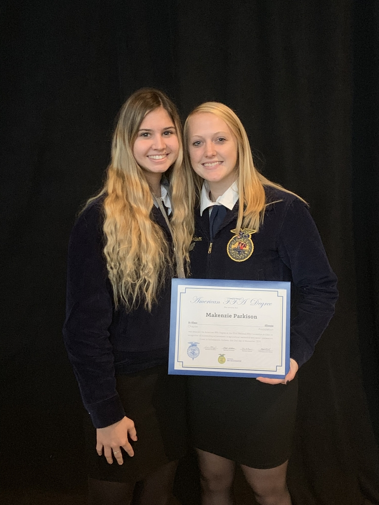 Makenzie and Audrey at National FFA Convention.
